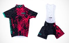 Heavy Pedal Pink Microdot Kit http://www.bicycling.com/bikes-gear/apparel/the-40-best-cycling-kits-of-2016/slide/20