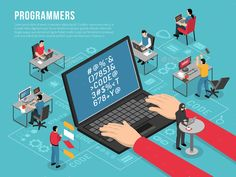Buy Programmers Work Isometric Conceptual Composition by macrovector on GraphicRiver. Computer programmers work Isometric conceptual composition poster with software developer code sample on laptop scree. What Is Graphic Design, Graphic Art, Block Diagram, Android, Graphic Illustration, Vector Illustrations, Flat, Software Development, Composition