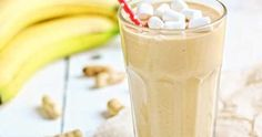 Peanut Butter and Banana Smoothie. Peanut butter and banana smoothie. (in Polish) Smoothie Diet, Smoothies, Mouth Watering Food, Brunch Recipes, Polish Breakfast, Glass Of Milk, Peanut Butter, Healthy Living, Pudding