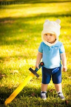 Aw, This Is The Cutest Finn You'll Ever See Finn has always been cute, but never as cute as he is in this cosplay featuring a little 1 1/2 year old Finn fan. He's actually the son of photographer John Nettles of City Light Studios and he happens to be a huge fan of Adventure Time. Don't you just want to pinch those little cheeks?