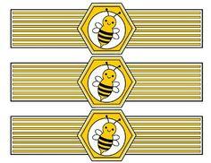 Free Bumble Bee Water Bottlel Labels #bumblebee #waterbottlelabels #freeprintables