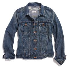 It's the ultimate fall staple, but with all the washes, styles, and brands out there, finding the right denim topper is quite the task. Clinton Kelly breaks down the offerings to save you hours at the mall. Blazer Jeans, Blazer Jacket, Best Jean Jackets, Jackets For Women, Denim Jackets, Outerwear Jackets, Sweater Weather, Jacket Buttons, So Little Time
