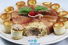 Pastel de jamón serrano Ana Sevilla cocina tradicional