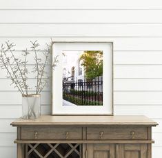 Savannah Georgia Wall Art Prints, City Watercolor Painting, Forsyth Park Neighborhood Savannah Georgia, Savannah Chat, Art Prints For Sale, Framed Art Prints, Forsyth Park, Wrought Iron Fences, Home Art, White Flowers, Watercolor Paintings