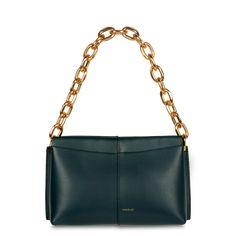 Carly Mini Heavy Chain Teal – Wandler Boot Shop, Accessories Shop, Mini Bag, Calf Leather, Shopping Bag, Calves, Crossbody Bag, Teal, Shoulder Bag