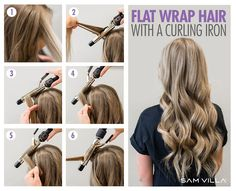 How To Curl Your Hair - 6 Different Ways To Do It We've got six techniques to create 6 different types of curls using your curling iron and flat iron! Hair Curling Techniques, Hair Curling Tools, Curling Thick Hair, Curling Iron Tips, Curling Iron Hairstyles, Curled Hairstyles, Diy Hairstyles, Simple Hairstyles, Updo Hairstyle