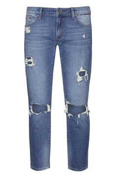 Blue Busted Skinny Jeans