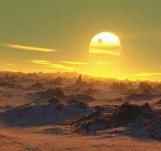 It's another Farrakanian sunrise spreading slowly cross the skies.