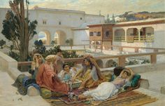 Frederick Arthur Bridgman - An Afternoon's Amusement