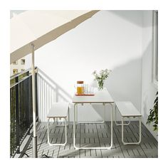 IKEA PS 2014 Table, in/outdoor, white, foldable