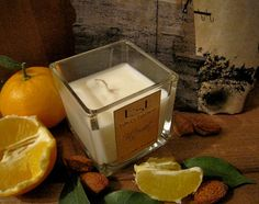 """Large Soy Candle """"Bittersweet"""", Sweet Orange and Almond. by EstherEssenceCandles"""