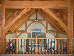 above the valley timber frame loft custom design riverbend timber framing