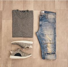 Outfit grid - Distressed denim More