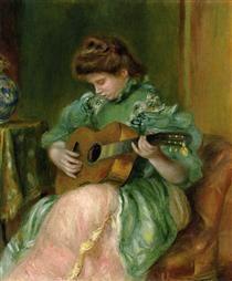 Woman with a Guitar - Pierre-Auguste Renoir
