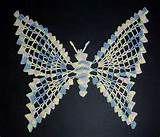 Hand Crochet Butterfly - Russian Pattern - Pastels - Motif\/Doily