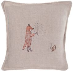 Coral & Tusk, fox sparkler pillow