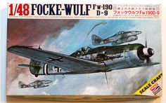 1/48 FOCKE-WULF Fighter Kit Scale Craft Fw-190 D-9 German WWII Complete w/Decals Instructions Fujimi by graymountainvintage on Etsy