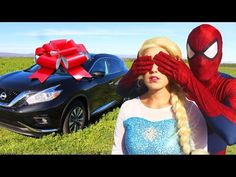 Frozen Elsa Draws on Joker! w/ Minnie Mouse, Venom & Paw Patrol Chase in Real Life - YouTube
