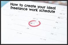 Freelance Work Schedule