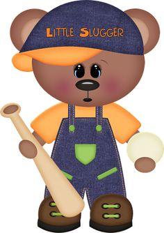 Little Slugger Baseball Bear Drawer Knob Clipart Boy, Cute Clipart, Bear Images, Baby Binky, Decoupage, Baby Boy Scrapbook, Christmas Cartoons, Baby Groot, Boy Quilts