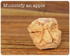 Very cute for school agers, not sure my pre-k kid would be too into it though. How to mummify an apple ~ Ancient Egyptian Craft Projects for Kids History Activities, Teaching History, Science Activities, Science Lessons, Science Experiments, 6th Grade Social Studies, Teaching Social Studies, Teaching Writing, Teaching Ideas