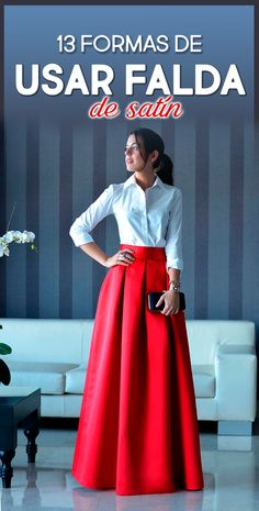Online Shop Elegant Long Women Skirt Zipper Waist A Line Floor Length Full Maxi Skirt Red Pleated Skirt Customized Style Stylish Dress Designs, Stylish Dresses, Fashion Dresses, Long Skirt Fashion, Indian Designer Outfits, Designer Dresses, Red Pleated Skirt, Satin Skirt, High Waist Skirt