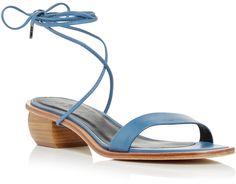 Tibi Blue Astrid Sandals