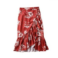 Sweet Floral Print Wrap Pleated Midi Skirt – Nads Shoes Pleated Midi Skirt, Print Wrap, Casual Skirts, Ruffles, Street Wear, Floral Prints, Lady, Sweet, Clothes