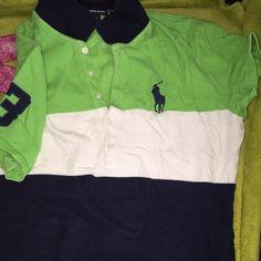 Ralph Lauren polo shirt Green, navy & white Ralph Lauren Tops