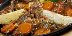I like more lamb in this flavourful dish of my mother's, so I would probably use of lamb knuckles. But I can swear to the taste of this hearty stew. Ingredients 2 lamb knuckles 2 on… Delicious Recipes, Yummy Food, Lamb Stew, South African Recipes, Tomato Paste, No Cook Meals, Onions, Carrot, Tomatoes