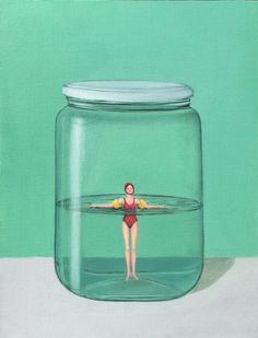 'Sospesa' by Annalisa Parisii http://www.celesteprize.com/artwork/ido:392027/ … #oil #painting #philosophy