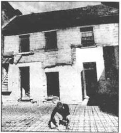 Renovations underway in 1981 to  transform the old inn into a restaurant.