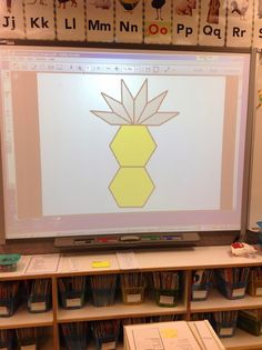Forever in First: Subitizing Geometry Style. For K, I would use actual manipulative pieces under the document camera, and do very simple configurations.