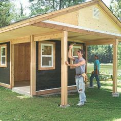 Wood Shed Plans Online DIY Woodworking #DIYShedLarge