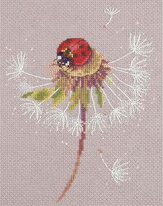 Набор для вышивания Panna ПС-7034 Мгновения лета. Божья коровка