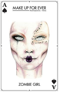 Make Up For Ever Zombie Halloween Look #halloween #halloweenmakeup #makeupforever