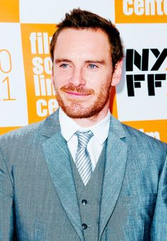 Fassbender...love that crooked smile & that ginger hair do!!!