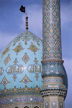 Dome and minaret, Jam Karan Imam Mahdi (AATFS) Mosque, Iran