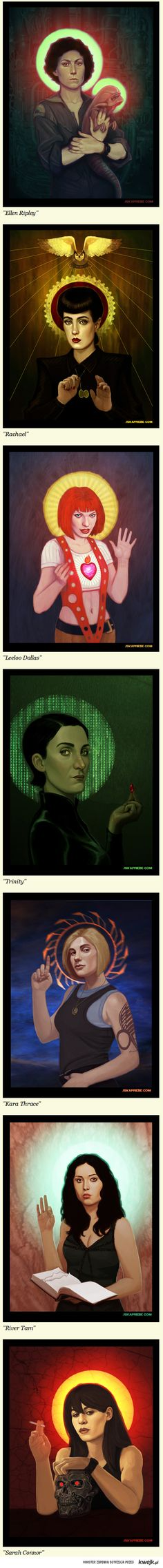 The female saints of Sci-fi by Jska Priebe #scifiladies