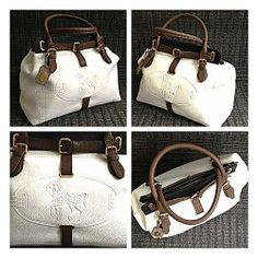 NWT $2990 Fendi White Leather Borghese Villa Selleria Tote Handbag