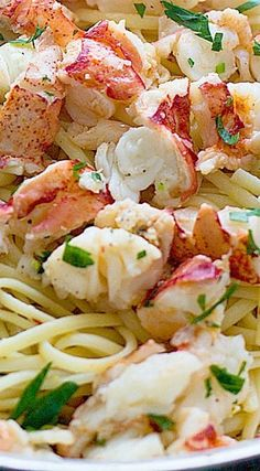 Lobster Scampi with Linguine - Cooking for Keeps Easy Lobster Scampi with Linguini Lobster Pasta, Lobster Dishes, Fish Dishes, Seafood Pasta Dishes, Lobster Tails, Lobster Tail Pasta Recipe, Sauces, Dining, Gourmet