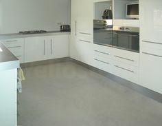 Cuisine et plan de travail beton cir yellostone saint for Beton cire cuisine plan travail