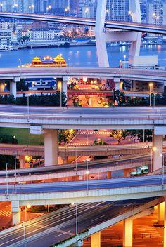 Nanpu Bridge, Shanghai, China @nishjamvwal http://nishajamvwal.blogspot.in/