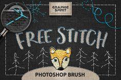 Free Stitch Photoshop Brush