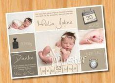 Danksagungskarten Geburt Geburtskarte MUSTER 142 - Bild vergrößern