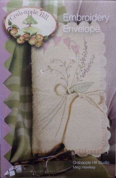 ARLYN'S EMBROIDERY ENVELOPE HAND EMBROIDERY PATTERN, From Crabapple Hill Studio #CrabappleHillStudio