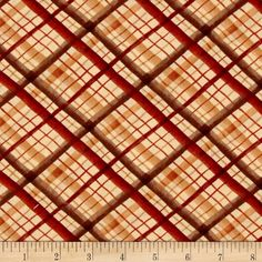 Leaf Into Autumn Plaid Rust from @fabricdotcom  Designed by Maria Kalinowski for Kanvas Studio this cotton print fabric is perfect for quilting, apparel and home decor accents. Colors include rust, brown and tan.
