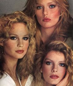 """Modern Appeal: Vitality of Four American Heroines"", VOGUE US, June 1978 Photographer: Richard Avedon Models: Patti Hansen, Rosie Vela and René Russo Patti Hansen, Lauren Hutton, Vintage Makeup, Vintage Beauty, 70s Fashion, Fashion Models, Vintage Fashion, Seventies Fashion, Fashion 101"