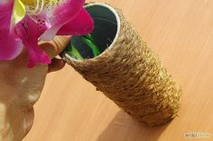 How to Make a Candle Holder from a Pringles Can #DIY #upcycle #green #recycle #decor #home