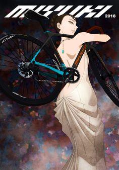 ムスメミユキ - Women's style: Patterns of sustainability Bicycle Art, Bicycle Design, Bike Drawing, Bike Illustration, Going For Gold, Urban Bike, Cycling Art, Classic Bikes, Vintage Bikes